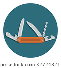 Multifunctional pocket knife icon vector 32724821