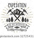 Mountain expedition vintage retro label vector 32725431