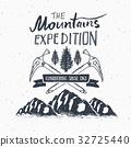 Mountain expedition vintage retro label vector 32725440