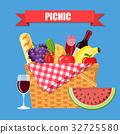 WIcker picnic basket 32725580