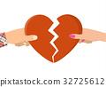 female, heart, holding 32725612