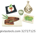 鱔魚 大豆 水彩畫 32727125