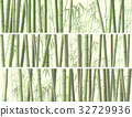 Set of horizontal banner with many bamboos. 32729936