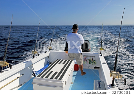 Big game or deep sea fishing in costa rica stock photo for Deep sea fishing costa rica