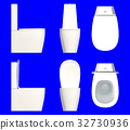 a set of toilet seat isolated on a blue background 32730936