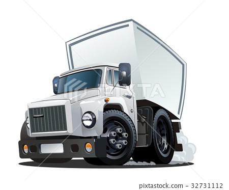 Cartoon delivery or cargo truck 32731112