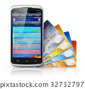 Mobile banking and finance concept 32732797