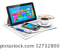Tablet computer and business objects 32732800