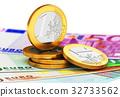 歐元 錢 錢幣 32733562