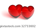 Couple of crystal hearts 32733602