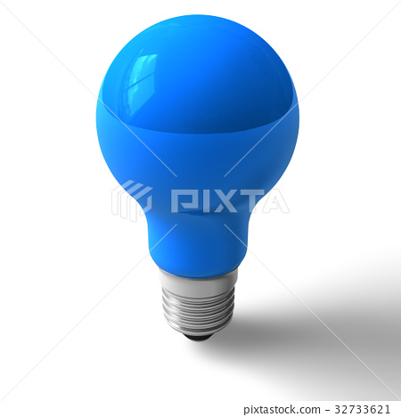 Blue lightbulb 32733621