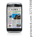 Smartphone with business news 32733908