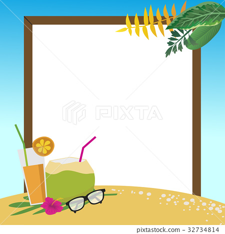 summer holidays on the beach background. 32734814
