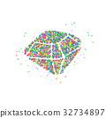 Diamond circles Abstract 32734897