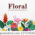 Blossom floral natural flat design 32737636