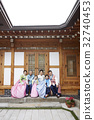 가족, 전통의상, 한국인 32740453