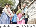 가족, 손잡기, 행복 32740671
