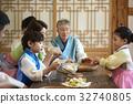가족, 요리중, 전통 32740805