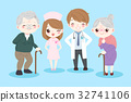doctor with old couple 32741106