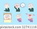 cartoon old people sick 32741116