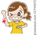 酸痛的 疼痛 痛苦的 32744075