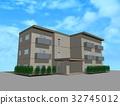 아파트, 맨션, 푸른 하늘 32745012