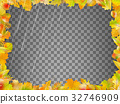 Autumn leaves template. EPS 10 vector 32746909