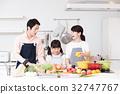 주방 요리 가족 부모와 아이 엄마 라이프 스타일 32747767