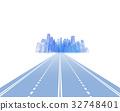 ระบบโลจิสติกส์วิ่งบนทางหลวงไปสู่เมือง 32748401