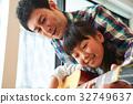 爸爸 父母和小孩 親子 32749637