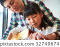 爸爸 父母和小孩 親子 32749674