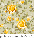 Retro flower seamless pattern - roses 32750727