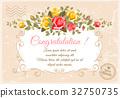 Retro flower card- roses 32750735