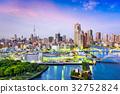 Tokyo, Japan Sumida River Skyline 32752824