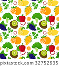 Cartoon Food with Vitamin C Background Pattern 32752935