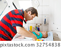 baby, diaper, father 32754838