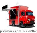 vector cartoon foodtruck 32756962