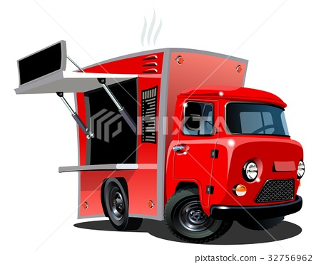 Cartoon food truck 32756962