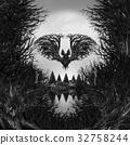 Scary Skull Background 32758244
