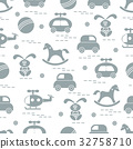 pattern with variety of children's toys 32758710