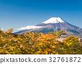 富士山 世界文化遺產 楓樹 32761872