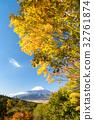 富士山 世界文化遺產 楓樹 32761874