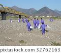 중학생 자원 봉사 활동 (치 쿠마가와 하천 부지 청소 작업) 32762163
