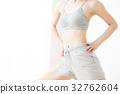 女人減肥abs身體部位年輕女子健身 32762604