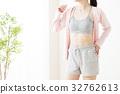 女人減肥abs身體部位連帽衫健身運動 32762613