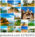 The collage of images about Lloret de mar, Spain 32762955