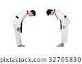 Portrait of two young asian man taekwondo 32765830