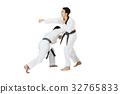 Portrait of two asian taekwondo professional 32765833