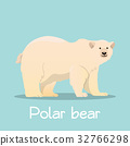 Cute Polar bear in sea ice illustration  32766298