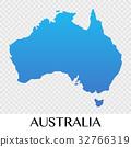 Australia map in Asia continent illustration 32766319